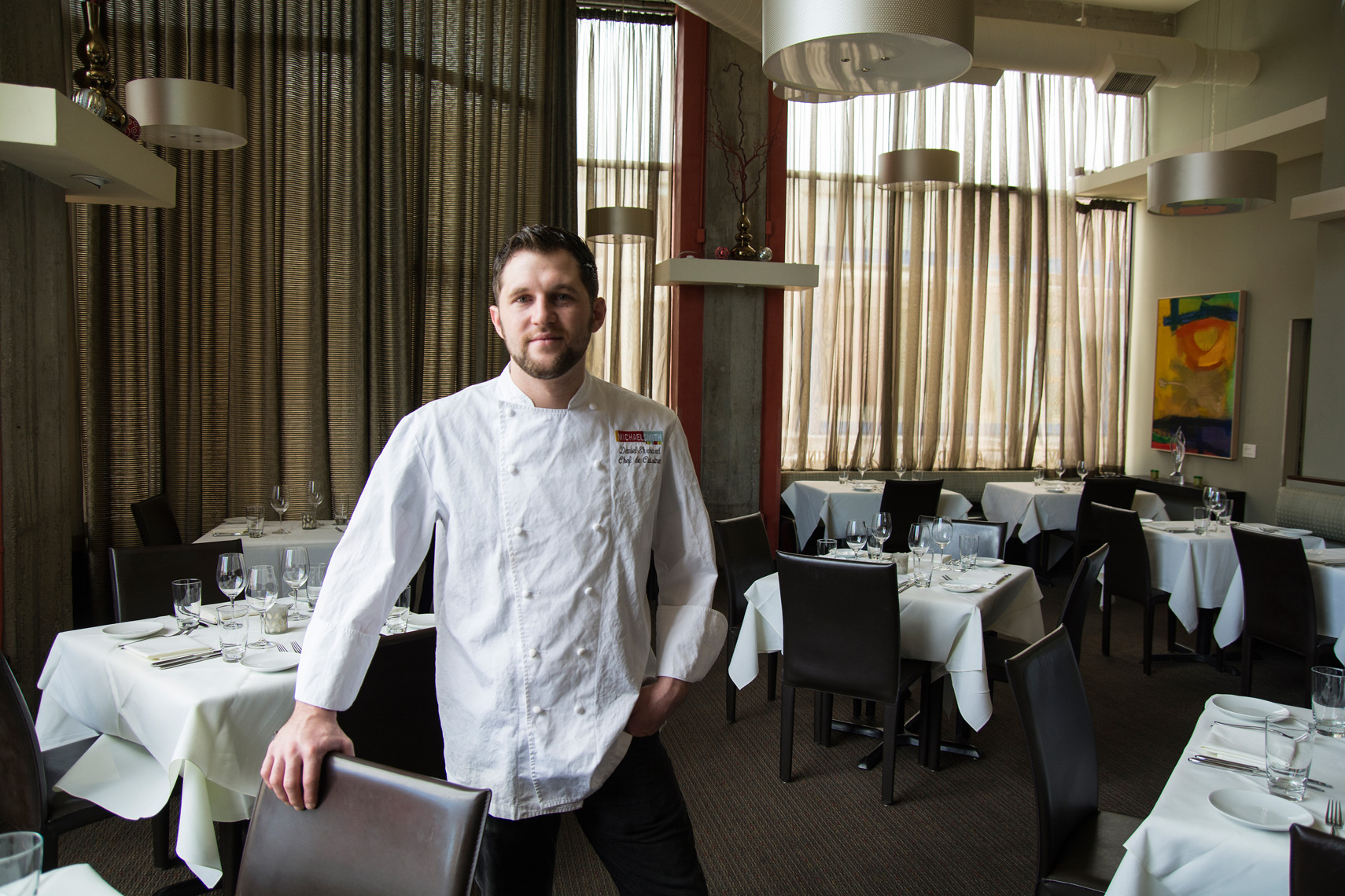 chef in dining room