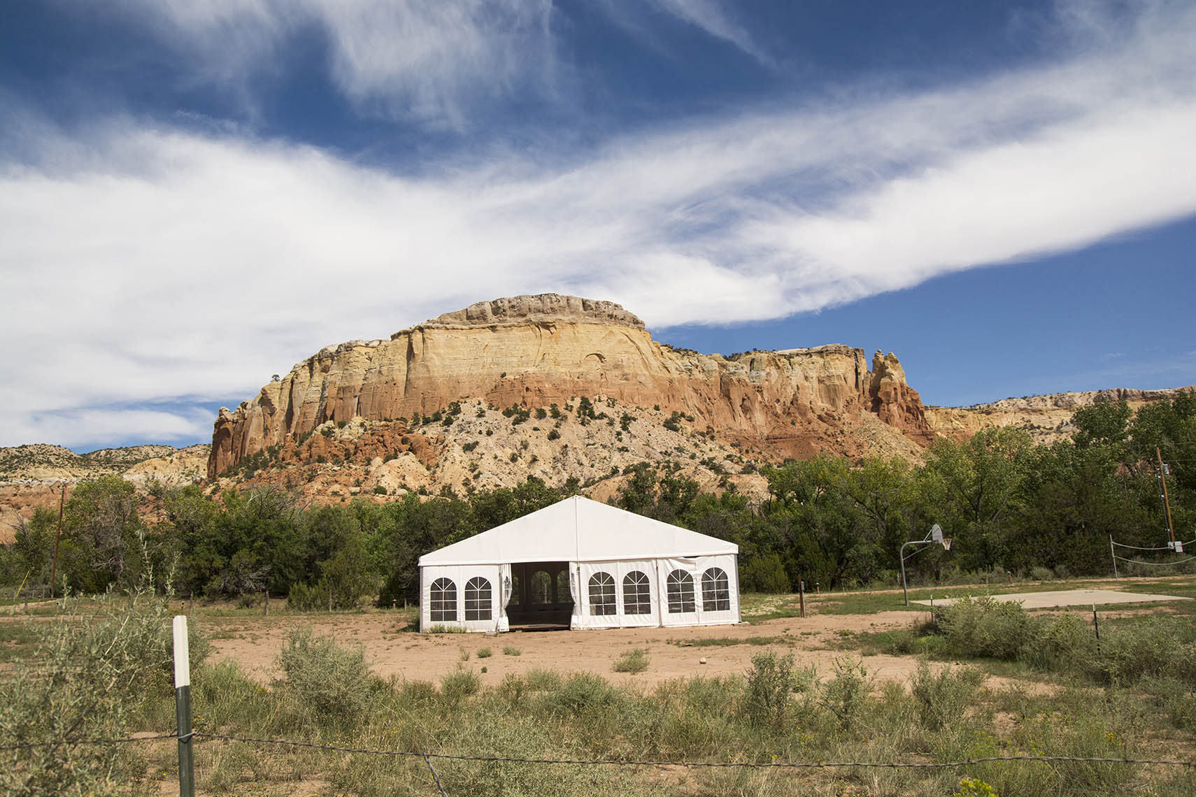 Ghost Ranch, mountain with tent